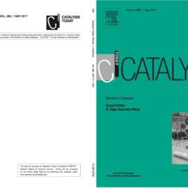 Publicación en portada de la revista Catalysis Today.